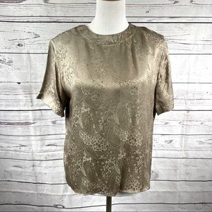 Vintage Anna and Frank 100% silk top Sz M